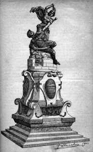 drawing of statue