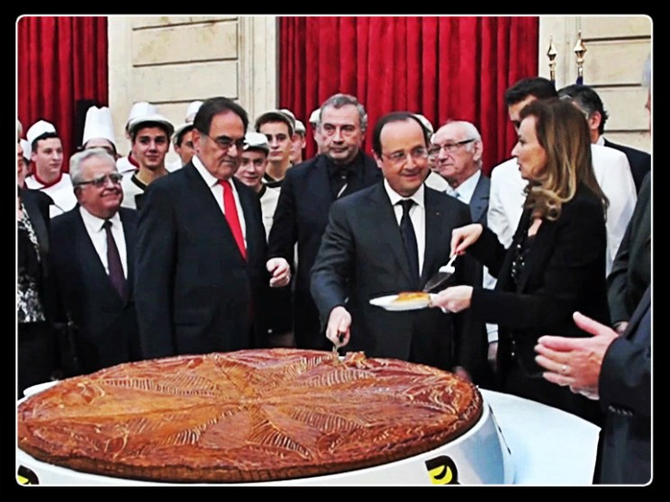 President Holland and King Cake, galette des rois