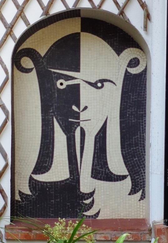 mosiac at Santo Sospir by Cocteau