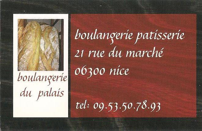 Boulangerie du Palais, Nice France