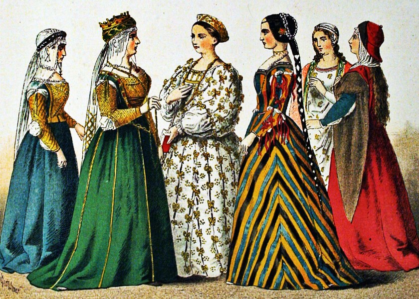 medieval fashion, florentine women