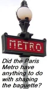 Paris metro and baguette