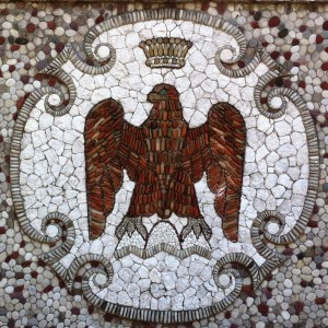 Nicois Eagle, Albert I, Mosaics on the hill, Nice, France
