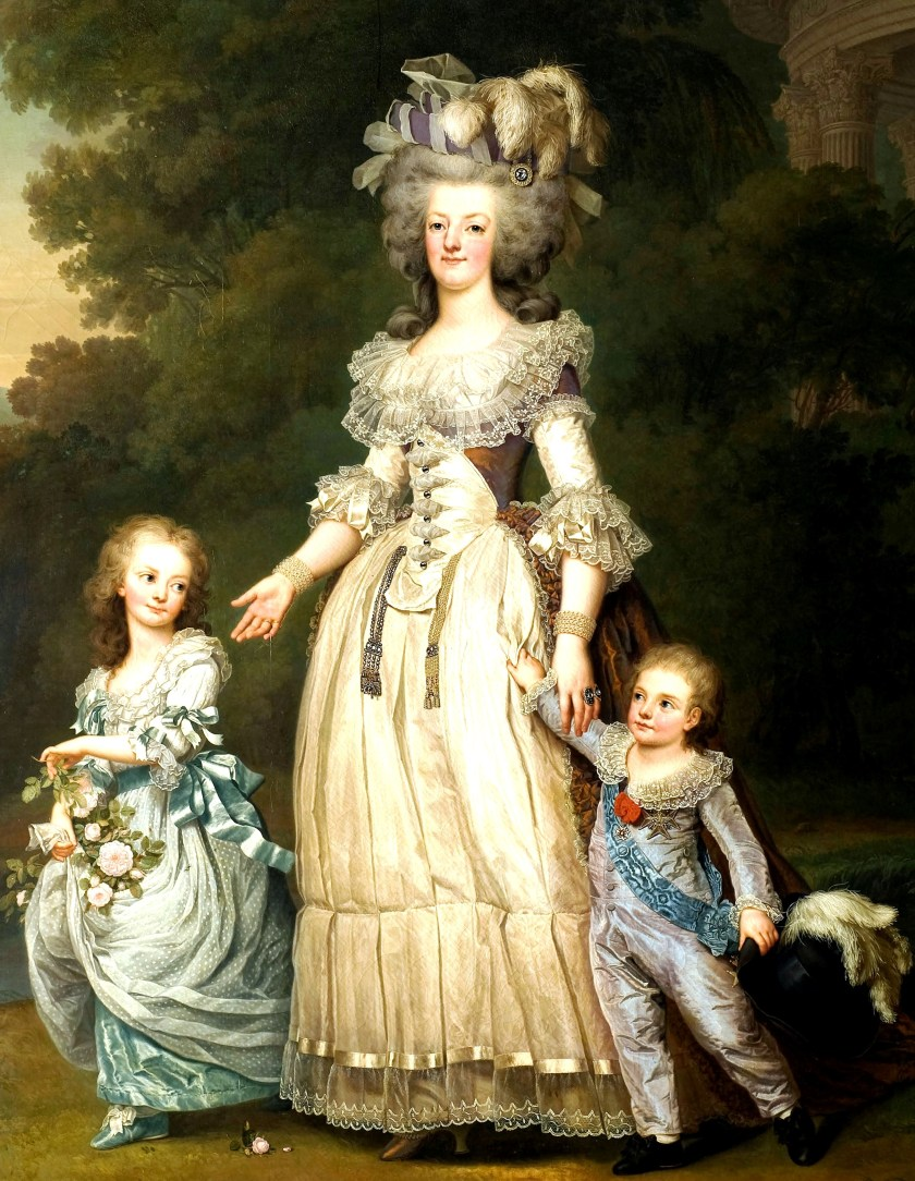 Marie Antoinette and her children before the arrest