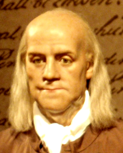 Ben Franklin, sculpted by a young Madame Tussaud