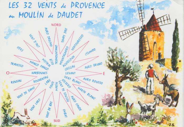32 winds of Provence, wind rose