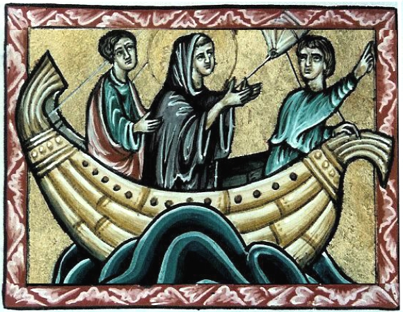 Saints in Boat