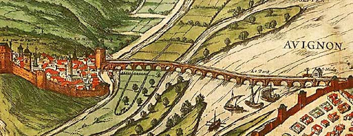 Avignon-bridge-16th-century-drawing