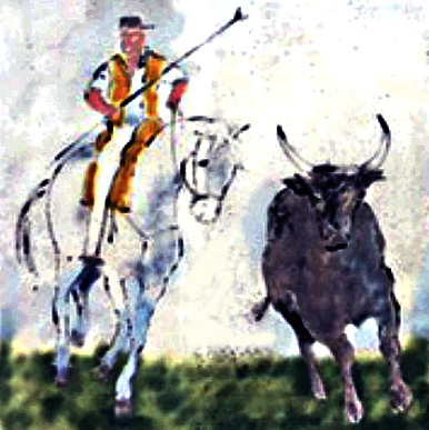 camargue-gardian-bull-horse-trident