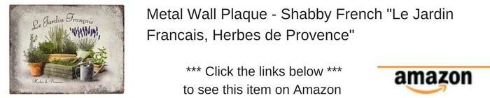 Provence metal sitn Amazon