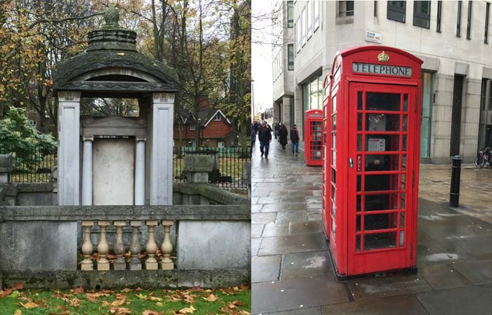 Soane tomb and phone box