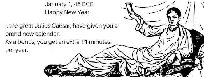 Julius Caesar calendar new year 700