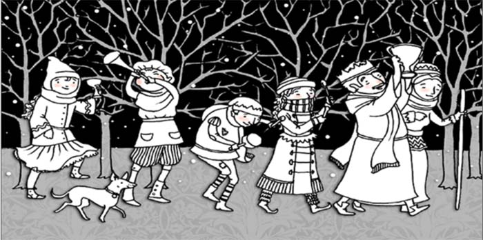 wassailing in the orchard