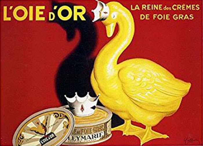 foie gras goose ad