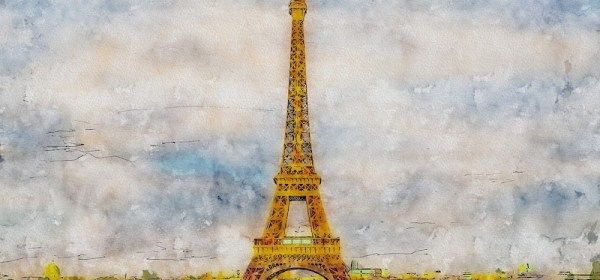 Eiffel Tower oil paining