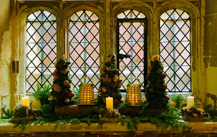 Christmas window at Hampton Court Palace