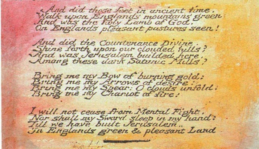 Words to the Poem by William Blake.