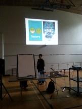 The presentation begins...