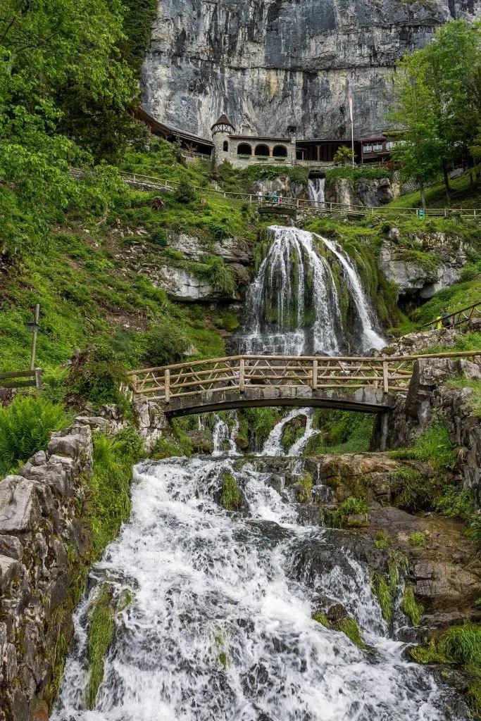 Waterfall at St Beatus Caves near Meiringen