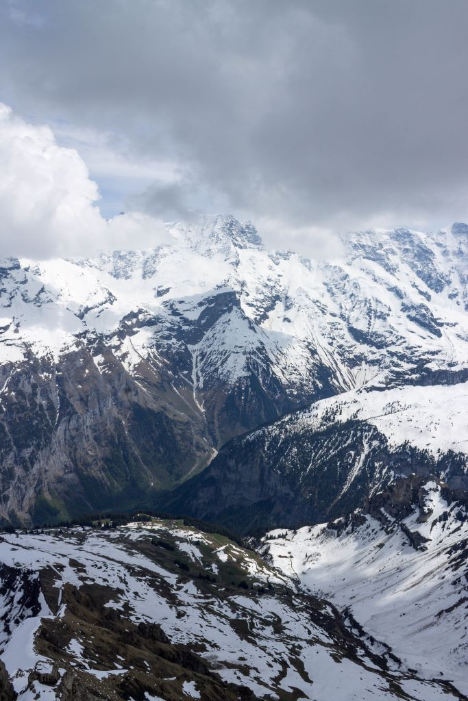 View of the Bernese Alps from Schilthorn peak, Switzerland