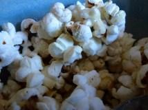 Monday 15-02-16. Homemade popcorn.