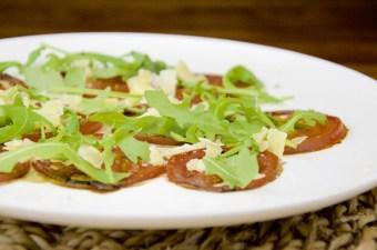 Recept Carpaccio Tomaat met Oude kaas