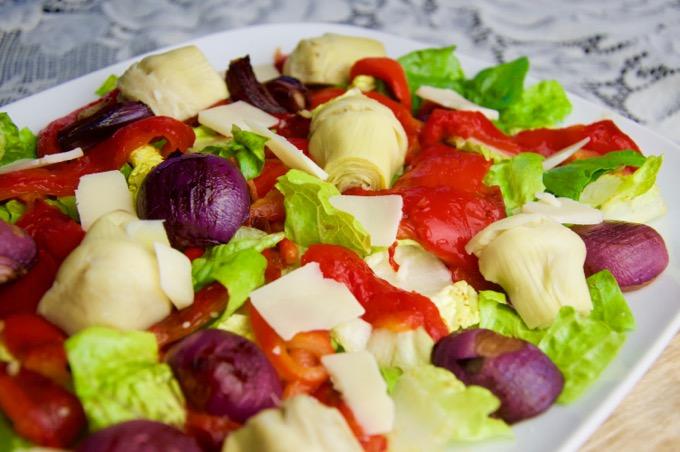 Recept Italiaanse salade met geroosterde groenten