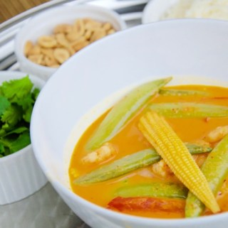 Recept Rode curry met garnaal