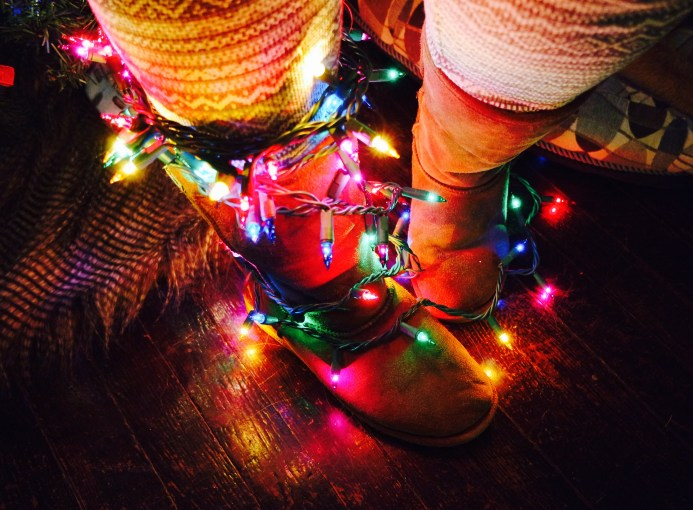 Christmas Lights, Ugg Boots, Curls and Contours