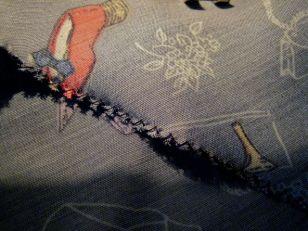 reverse side ~ stitched a bit