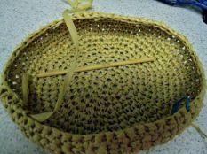 summer hat - looks like a bowl, doesn't it?