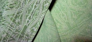 light green silk, both sides with good patterns
