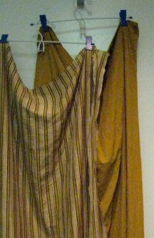 silk-cotton + rayon crepe (rayon was still slightly damp) and neither had been ironed - apologies!