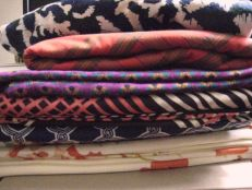 the fabric store pile has arrived!