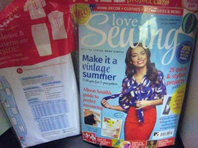 my British sewing magazine finally arrived!