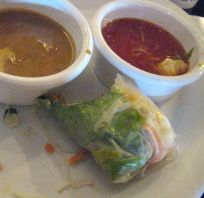 started with 2 spring rolls ~ was too hungry to think about photos