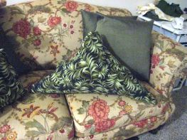 stuffed a triangle pillow