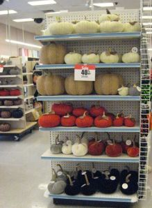 jo-ann's (crafts & fabric) was beating the season by having all their hallowe'en things out for sale 2 months early!