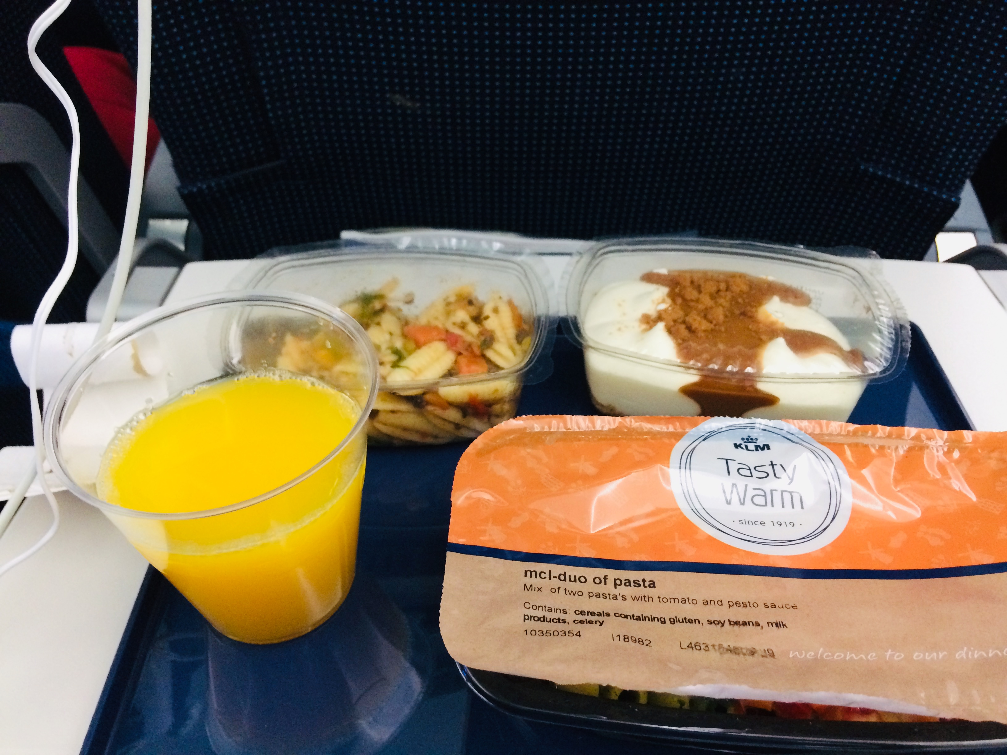 Vegetarian airline food.