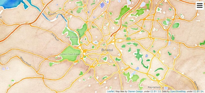 leaflet stamen map of bristol