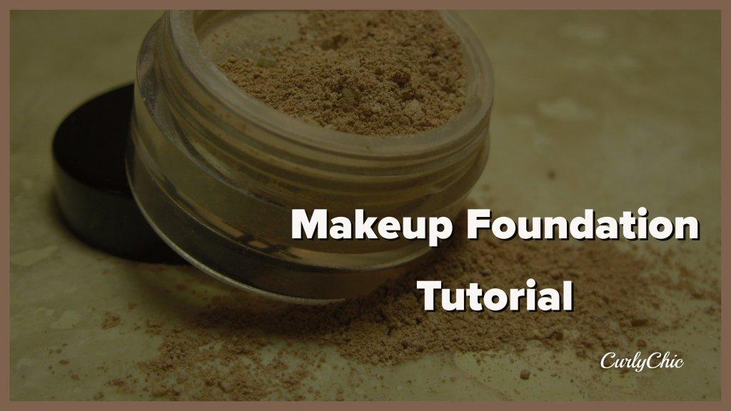 Makeup foundation routine tutorial