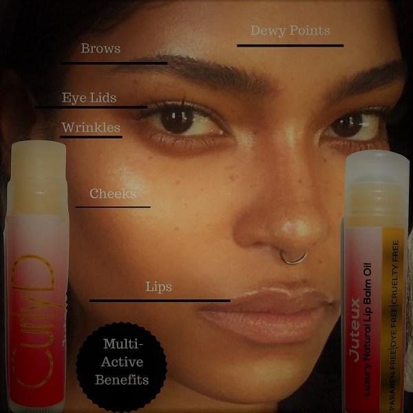 Curly D Juteux Luxury Natural Lip Balm Oil 4