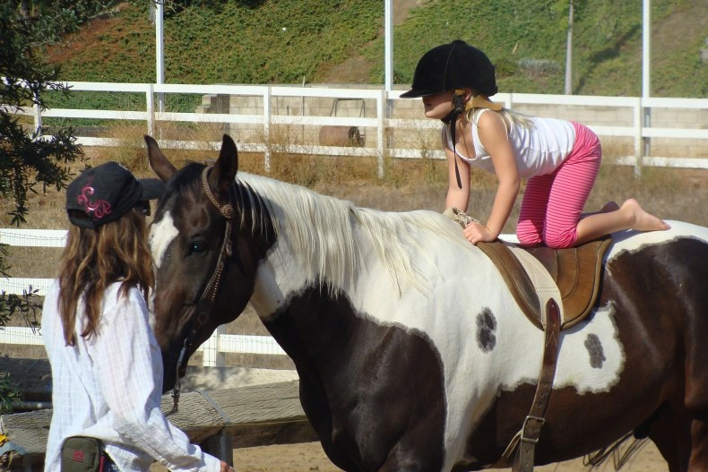 Riding lessons build safety, confidence, and body awareness: building blocks for growing strong, healthy, psychologically strong kids.