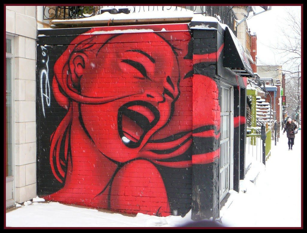 Mural in Montreal. (Yes, I love street art. Good observation!)