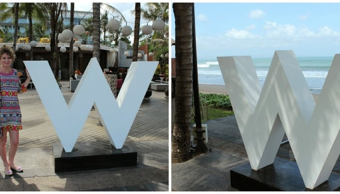W Hotel Bali. Inside and out.