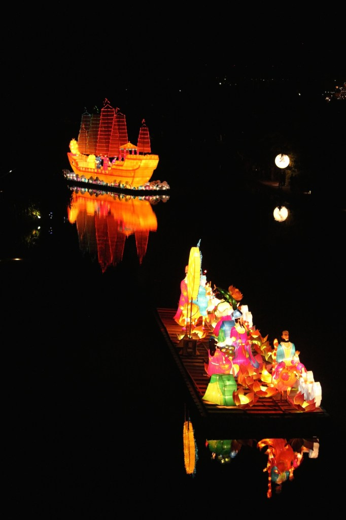 two floating lanterns