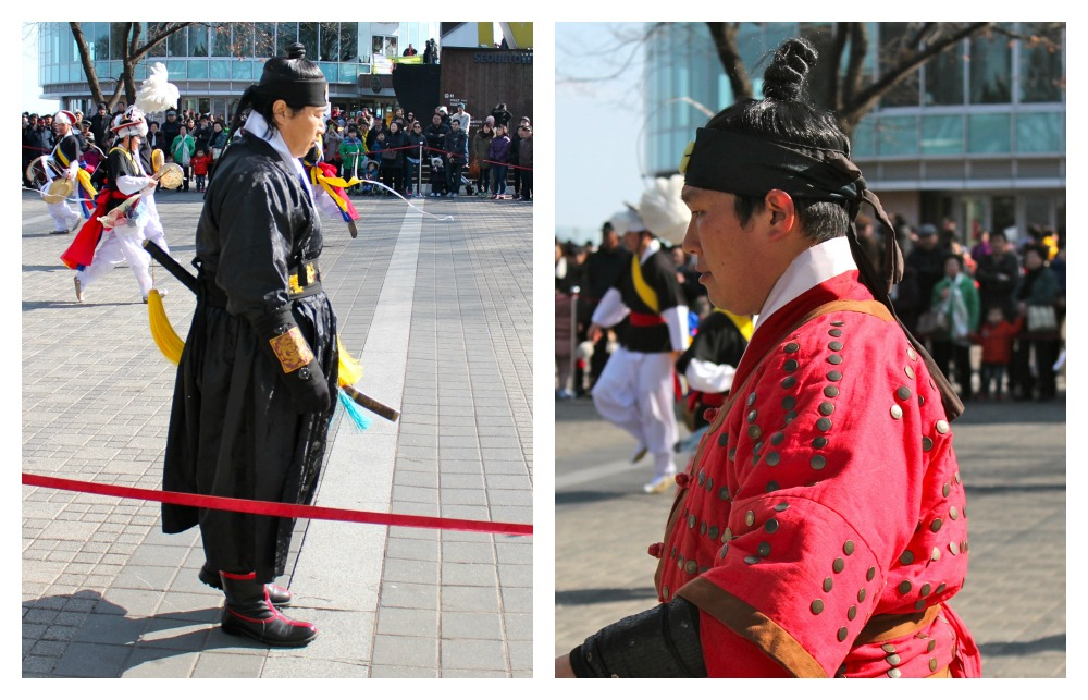 Korean martial arts warriors at Namsam Tower | curlytraveller.com