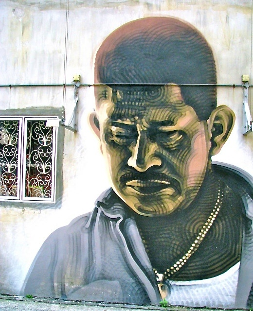 Indian man mural Rowell Road Singapore