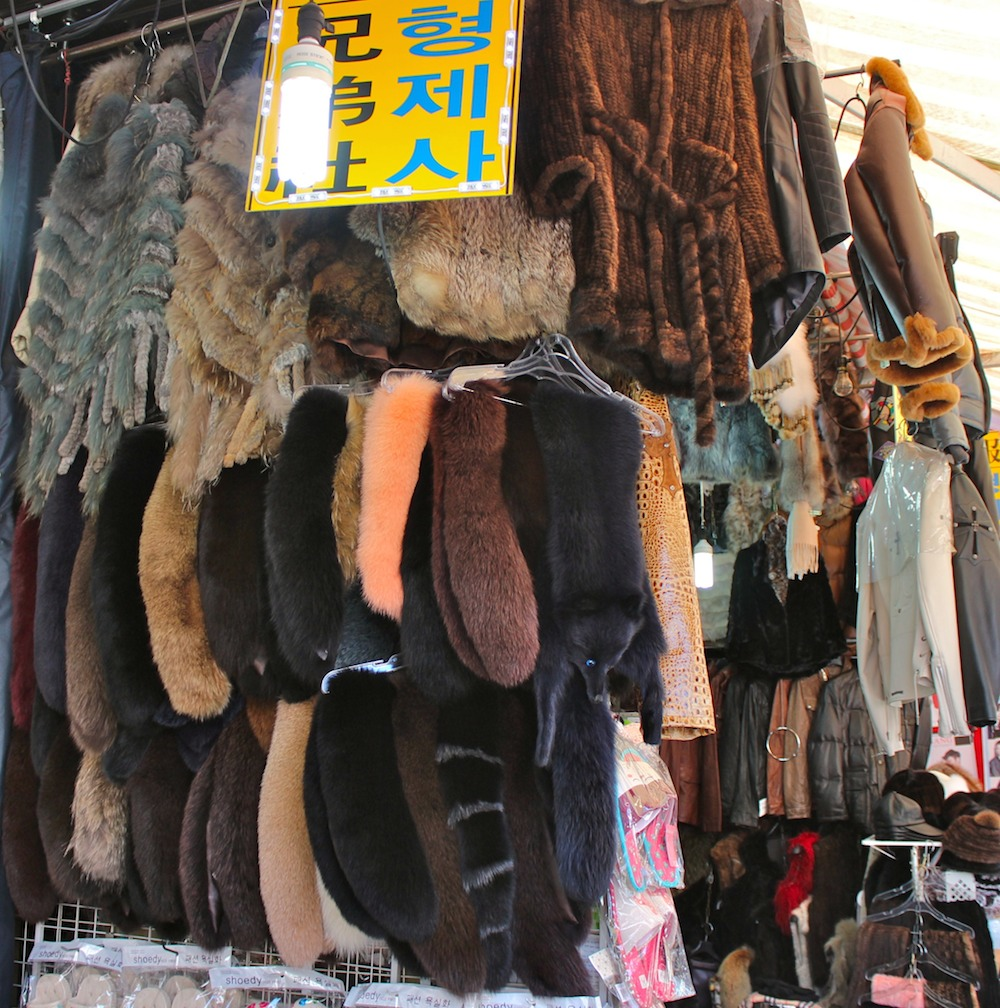 a lot of fur at Nandaemun Market |curlytraveller.com