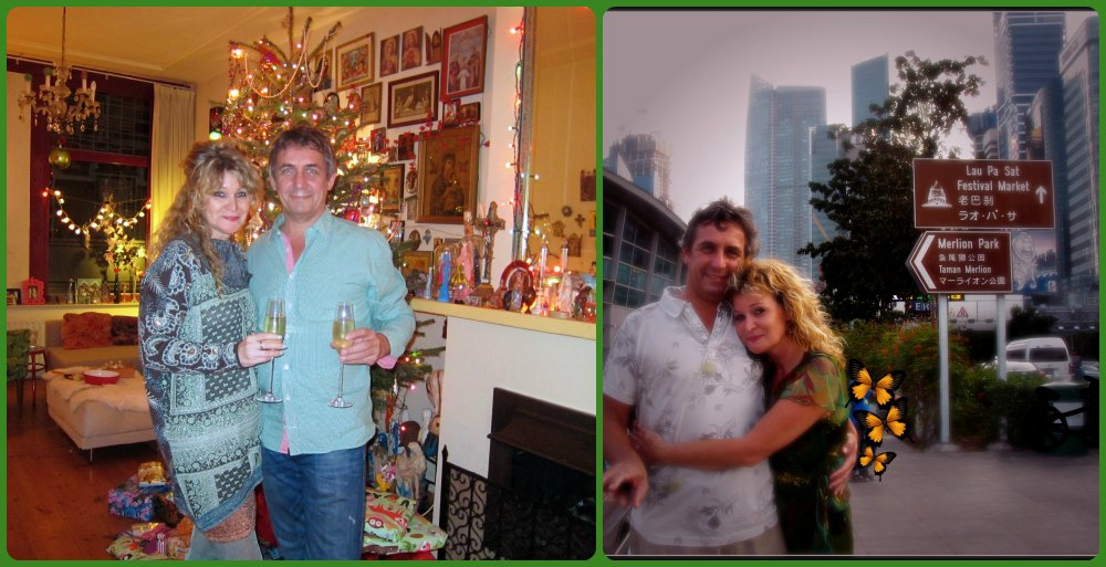 couple, left in Haarlem, right in Singapore  curlytraveller.com